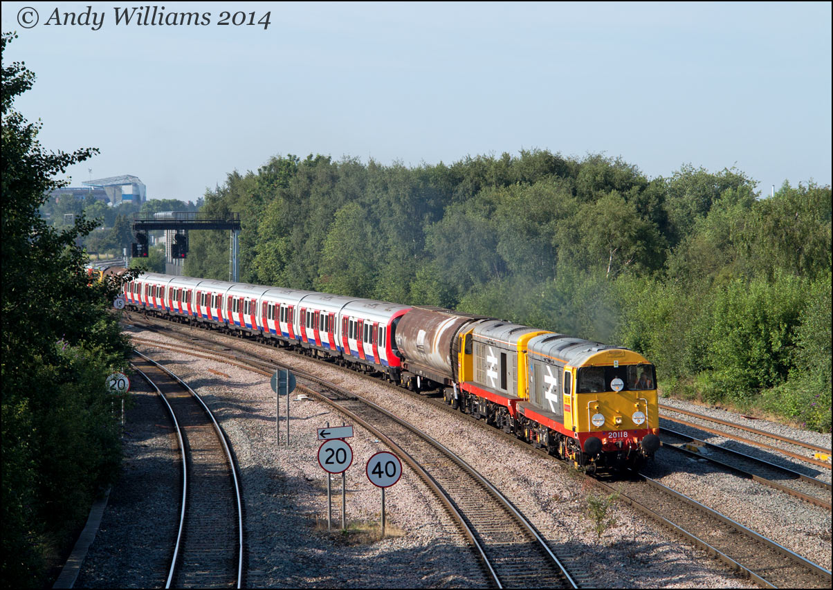 20118 and 20132 at Saltley Viaduct
