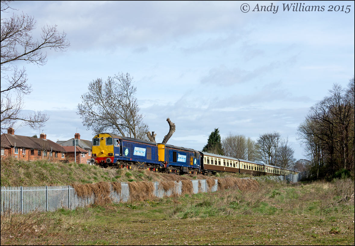 20308 and 20305 in the Up Dudley Siding, Pleck Jct
