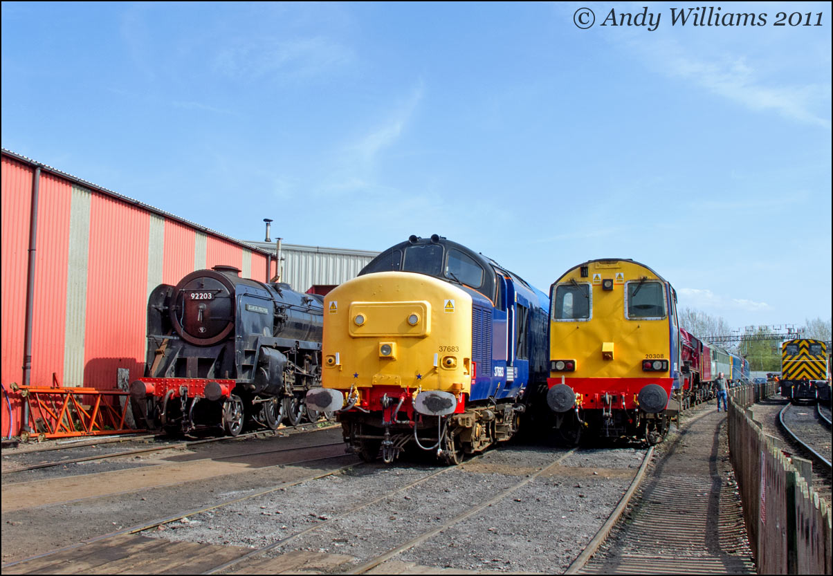92203, 37683 and 20308 at Crewe Heritage Centre