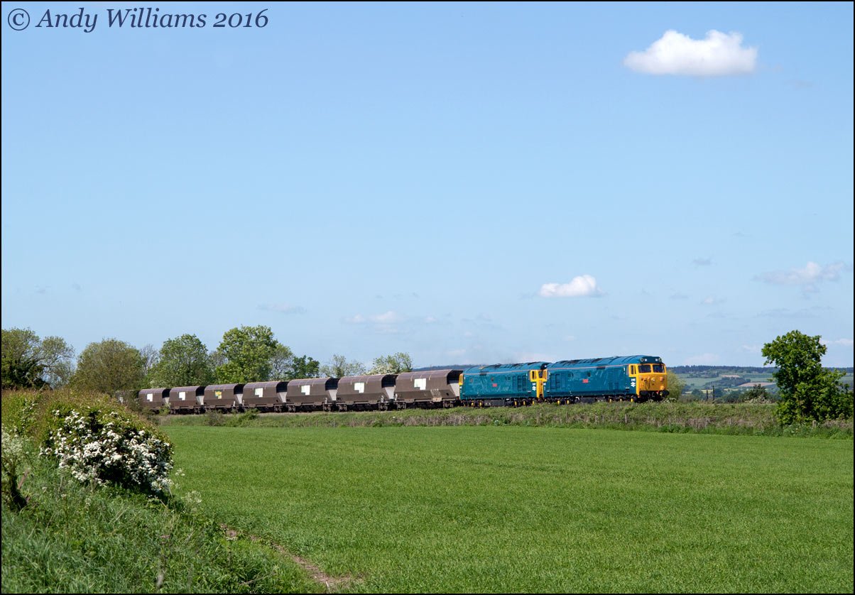 50050 and 50007 near Admaston, Wellington