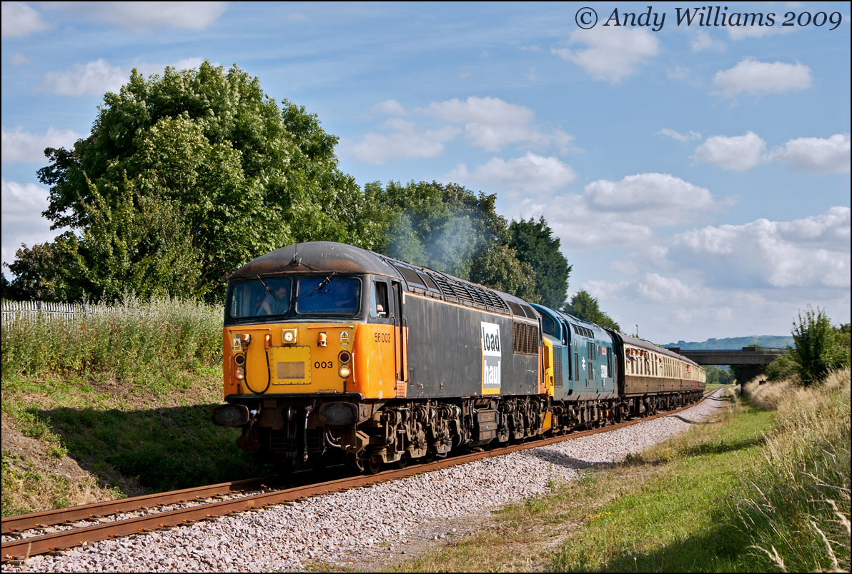 56003 and 37324 at Bishops Cleeve