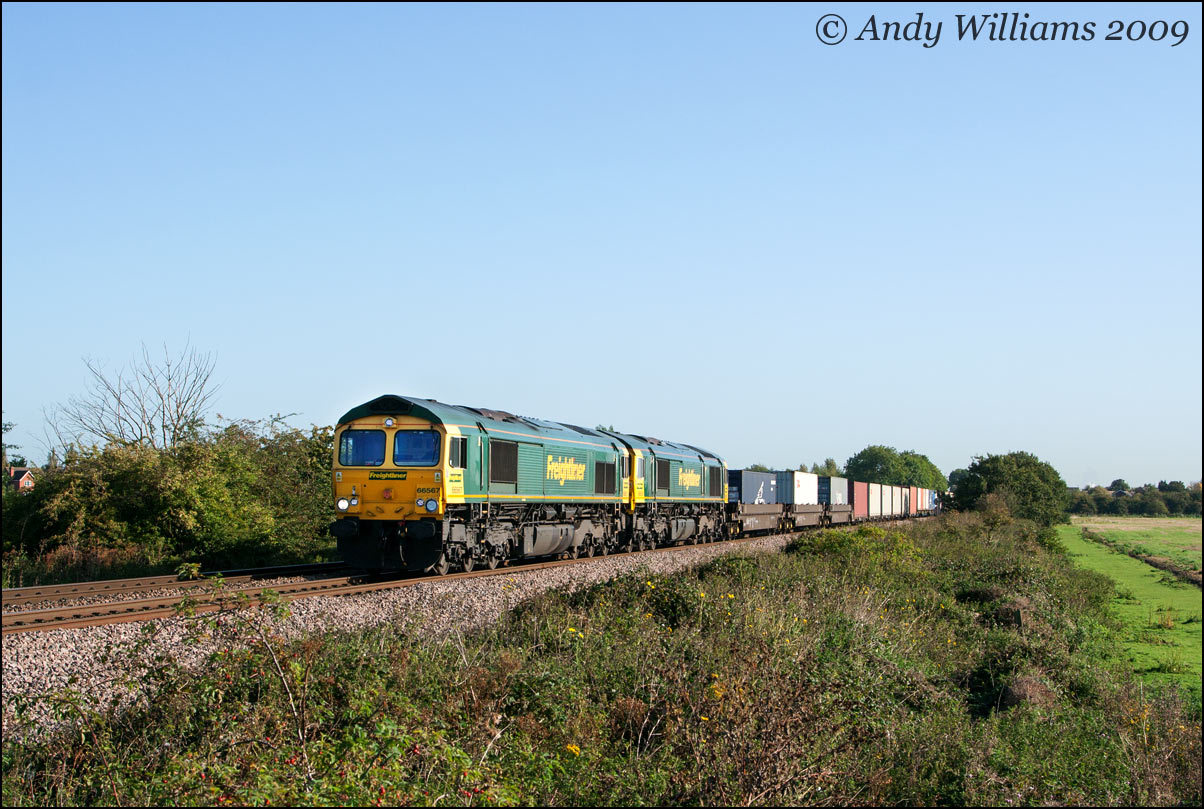 66567 and 66956 at Branston