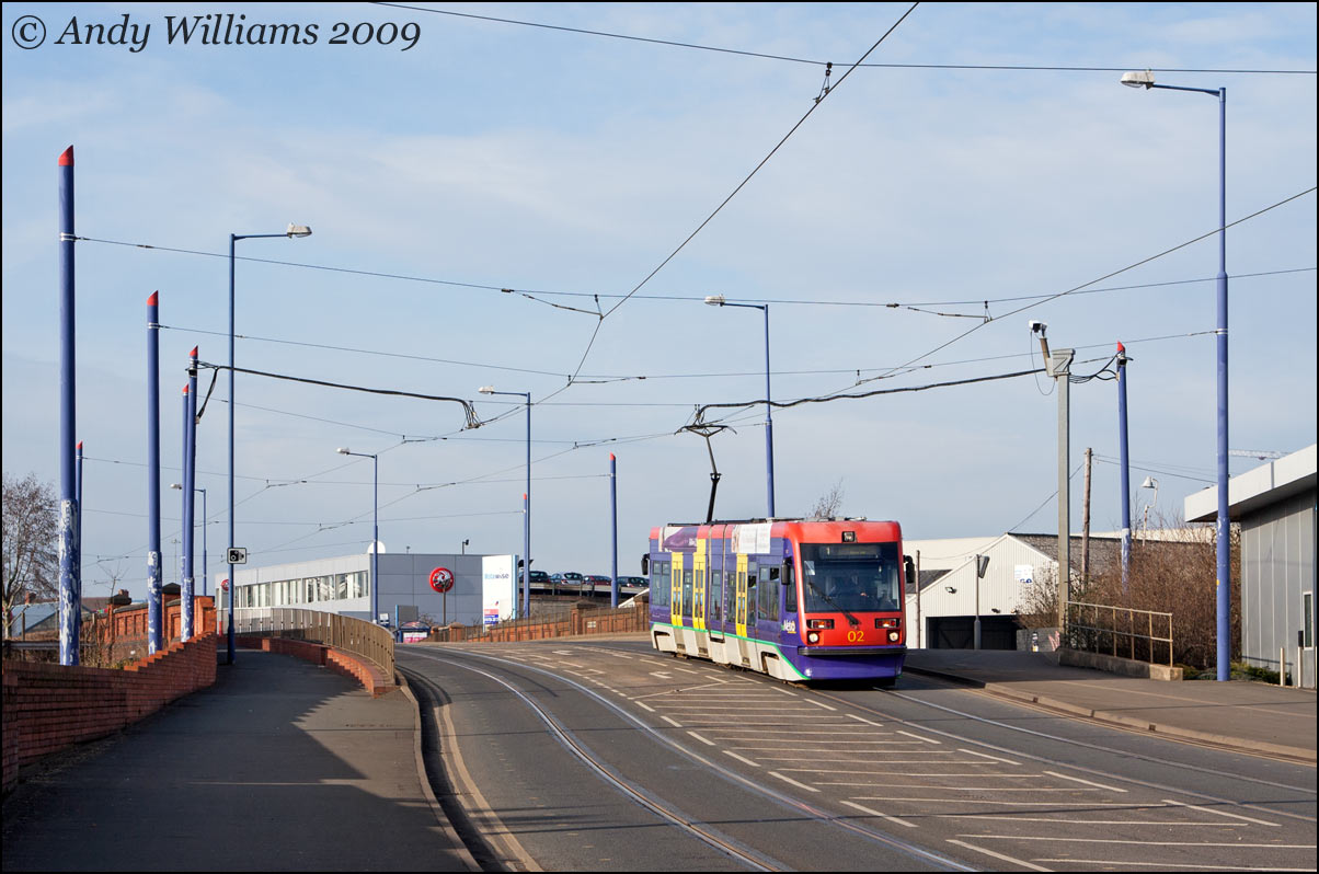 Tram 02 at Monmore Green