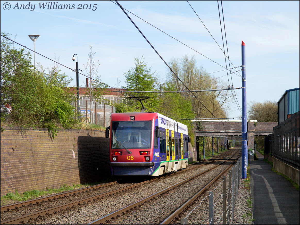 Tram 08 at West Bromwich