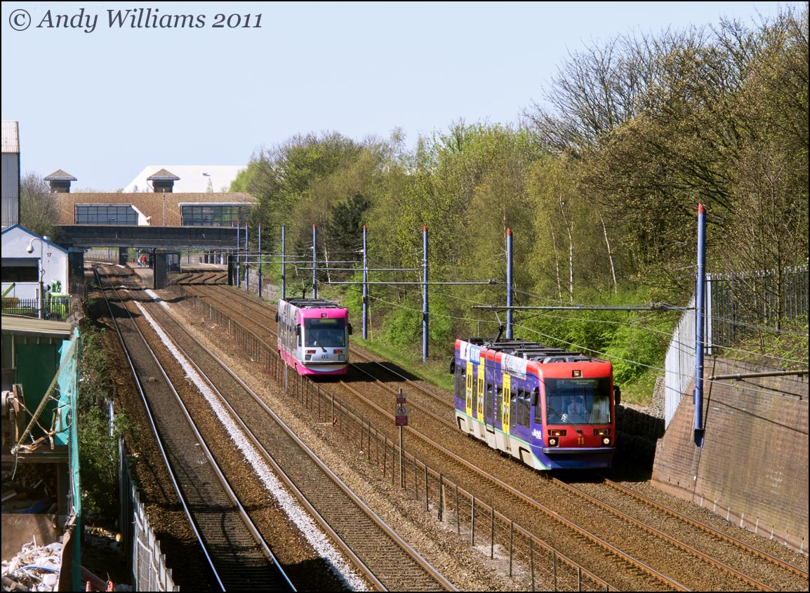 Trams 05 and 11 near The Hawthorns