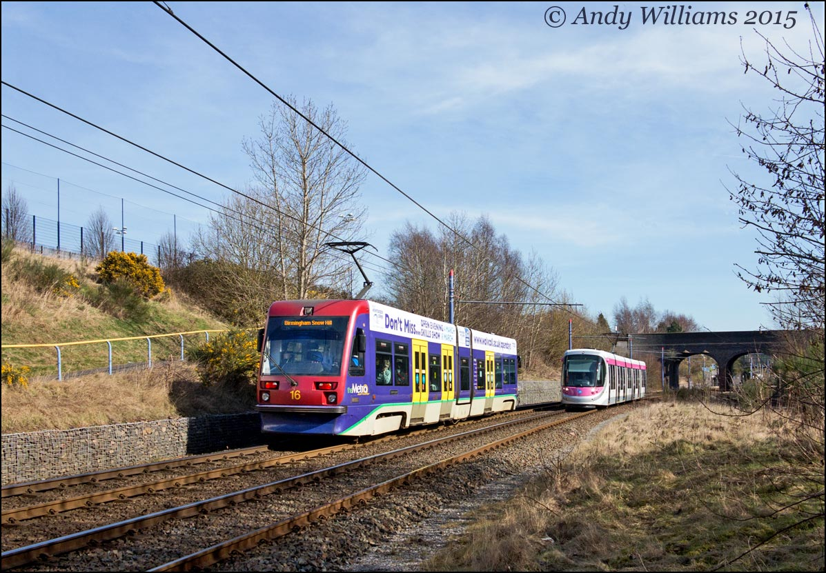 Trams 16 and 31 near The Hawthorns