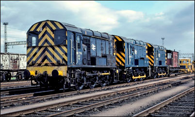 08774, 08114 and 08396 in Bescot Down Storage Sidings