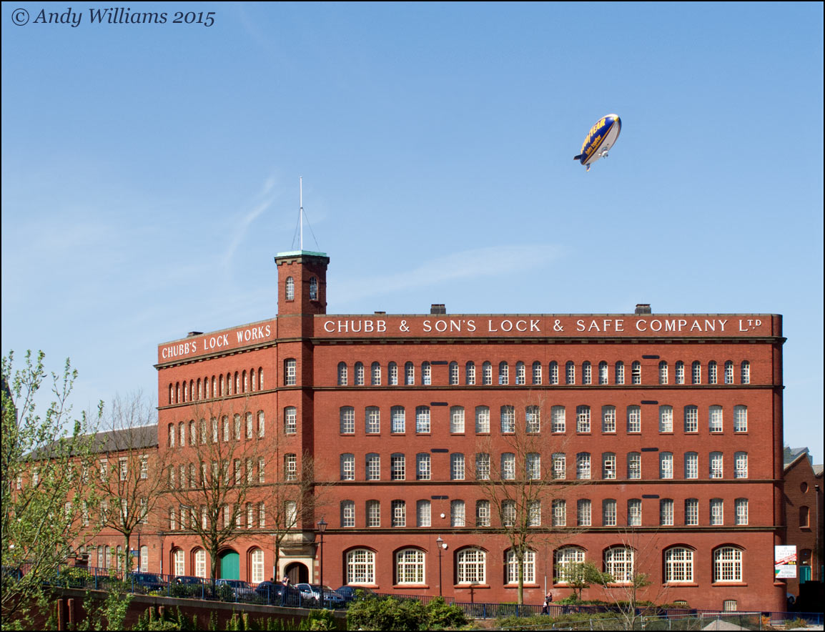 Airship over Wolverhampton