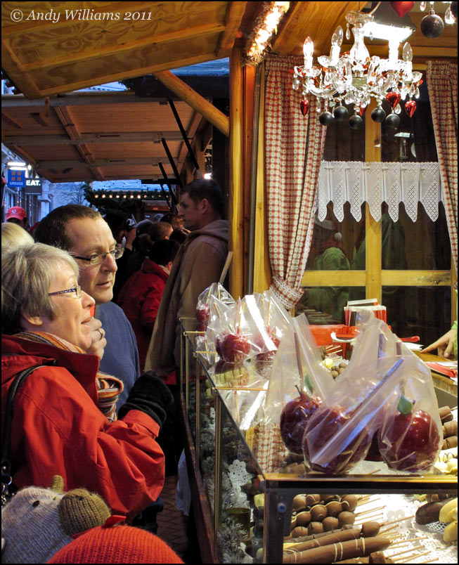 Birmingham Frankfurt market, buying confectionary