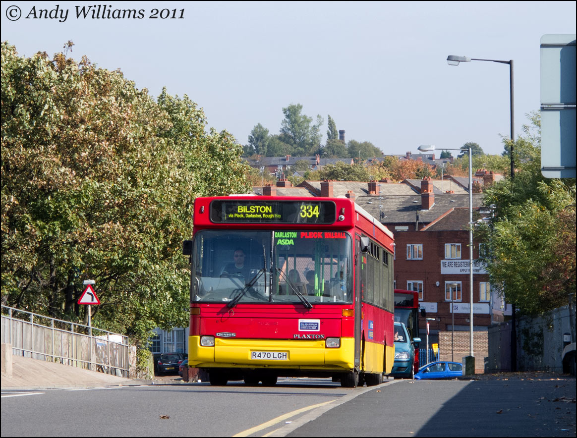 Sandwell Travel R470 LGH at Pleck, Walsall