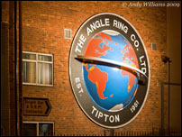 Angle Ring company sign, Tipton