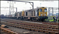 A pair of 20s led by 20068 on Bescot Curve