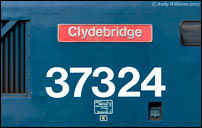 The Clydebridge nameplate on 37324