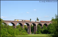 60077 crossing Stambermill Viaduct, Stourbridge