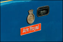 Ark Royal nameplate and crest