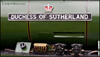 Duchess of Sutherland nameplate