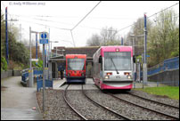 Trams 05 and 12 at Dudley St, West Bromwich