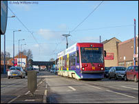 Tram 16 on the Bilston Road